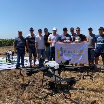ParaGraf.ru | Агродрон для опрыскивания DJI Agras T16 для нашего заказчика
