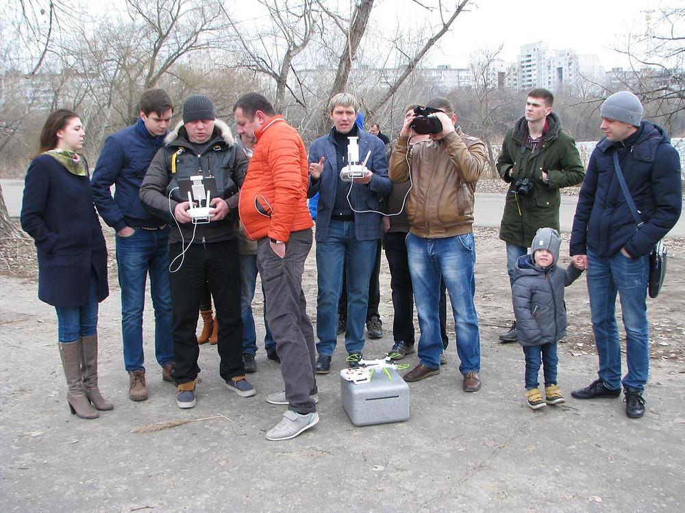 Сбор пилотов дронов в Воронеже