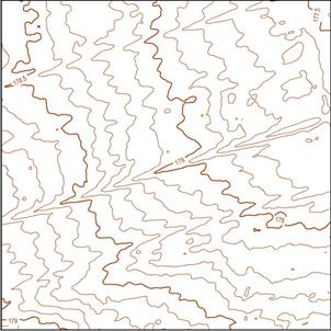 Цифровая модель рельефа в горизонталях