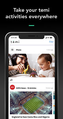 Temi App Screenshot - Activity Stream.jp