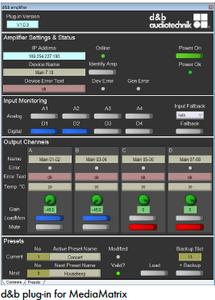 MediaMatrix d&b Plug-in