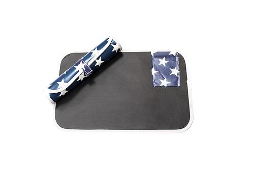 Blue Roll-Up Draw Mat (flexible blackboard!)