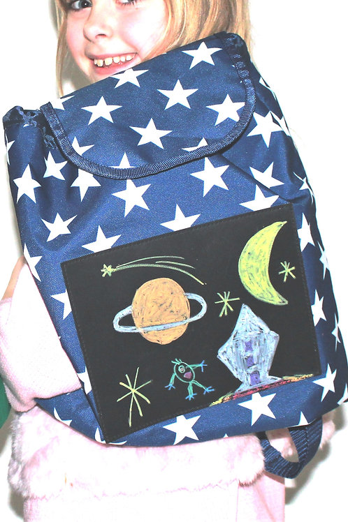 Design Your Own Bizzy Bag - Blue with white stars