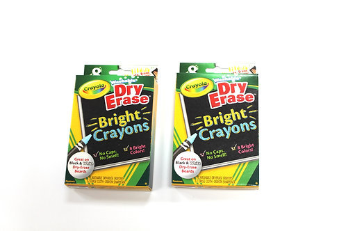 2 Packs of Crayola Dry-erase Crayons (8 crayons per pack)