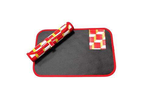 Red Roll-Up Draw Mat (flexible blackboard!)