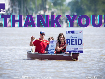 Election results, thank you Richmond!