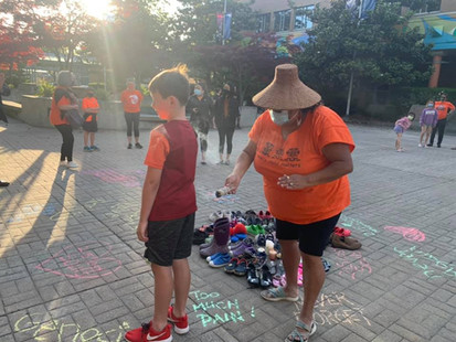 Vigil held at Richmond library plaza for 215 Indigenous children