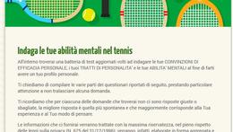 Le convinzioni di efficacia nel tennis