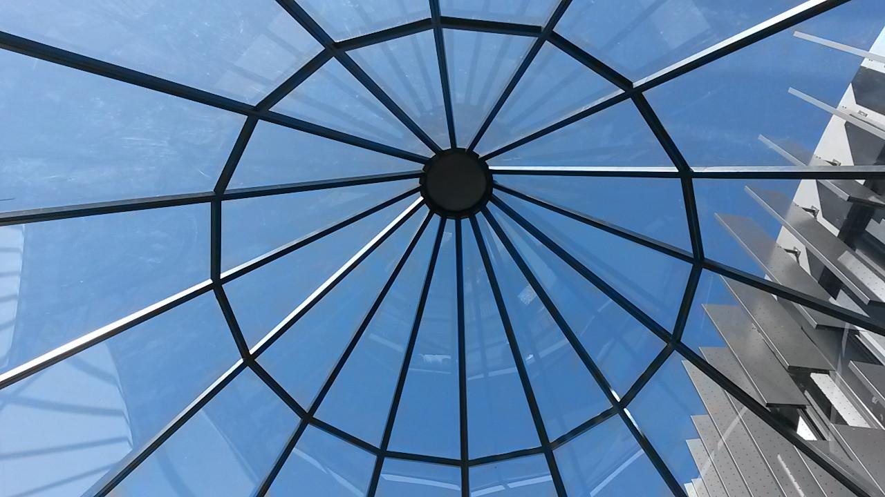 Flush Glazed Conical Dome