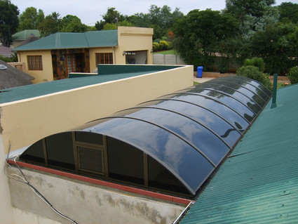 Low Rise Vault with Variable Louvre in Gable End