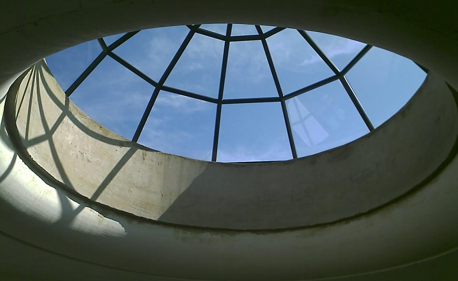 Flush Glazed Rainbow Dome