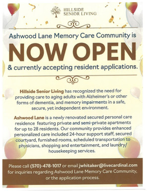 New Memory Care Opens at The Hillside