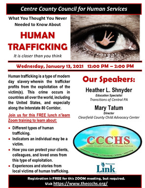 CCCHS Training - What You Need to Know about Human Sex Trafficking