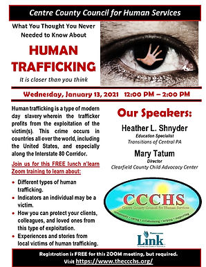 CCCHS Human Trafficking Training