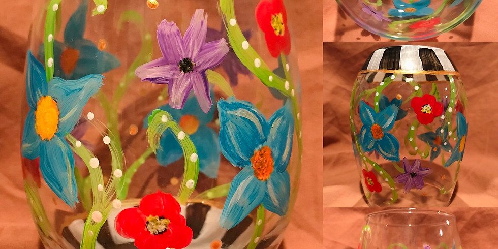 """""""Mad Hatter Garden"""" Glass Painting Party with 2U (18 & up)"""