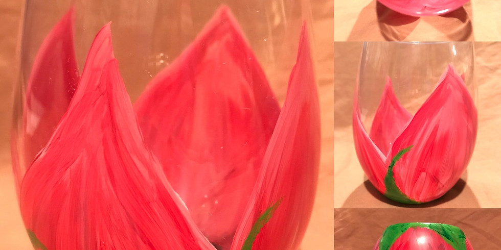 """""""Tu-Lips and Sip"""" Glass Painting Party with 2U (16 & up)"""
