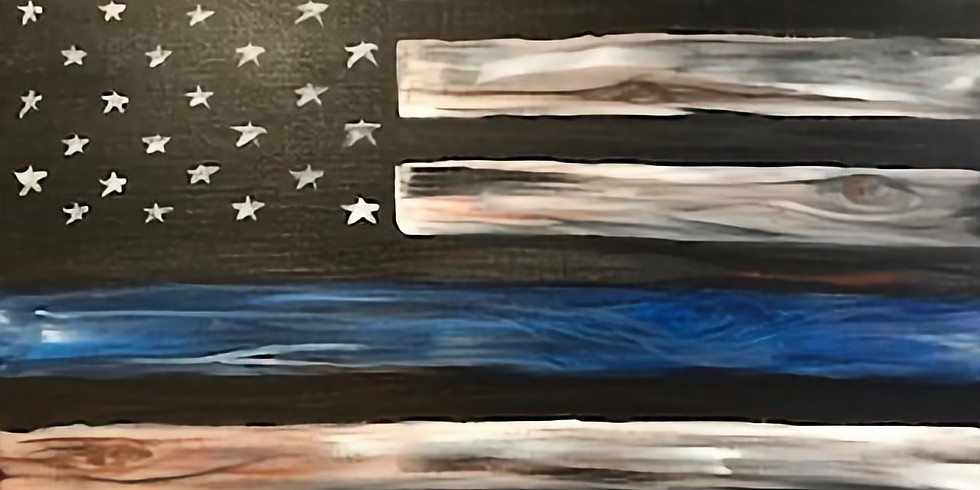 """""""Honor Stripe"""" Painting Party with 2U (16 & up)"""