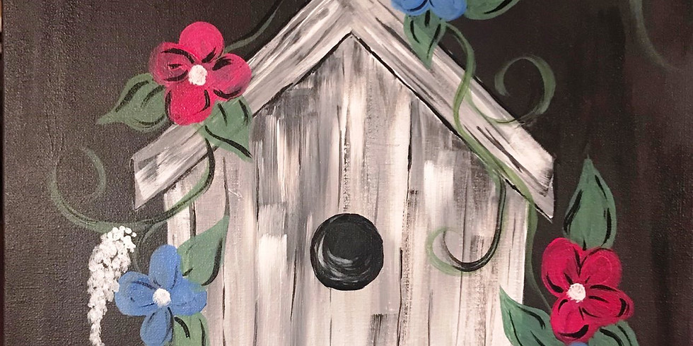"""""""Birdhouse Blossoms"""" Canvas Painting Party with 2U (16 & up)"""