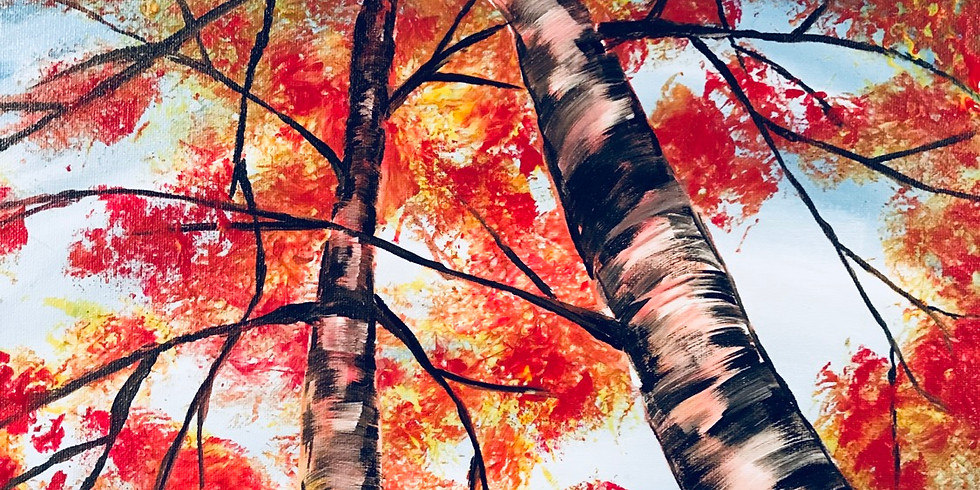 Fall Birch Virtual Painting Party