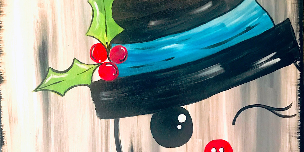 """""""Button Nose Frosty"""" Canvas Painting Party with 2U (16 & up)"""