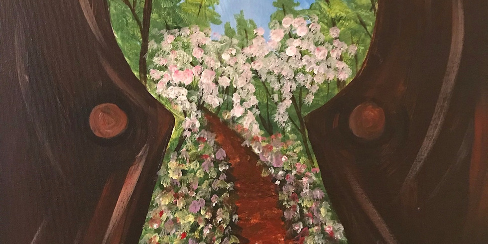 """""""Secret Garden"""" Painting Party with 2U (16 & up)"""
