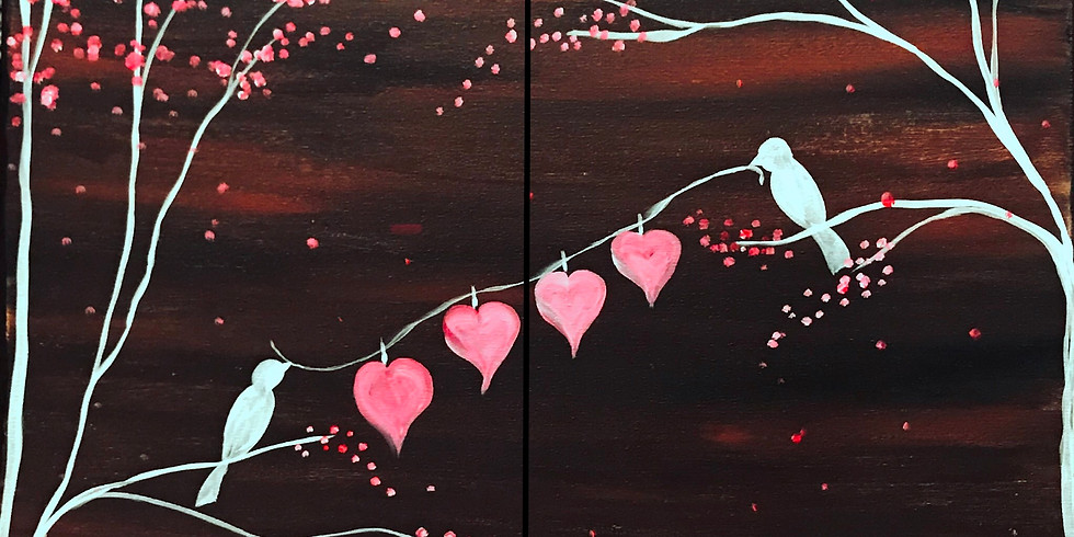 """""""My Hearts on a String"""" Painting Party with 2U (16 & up)"""