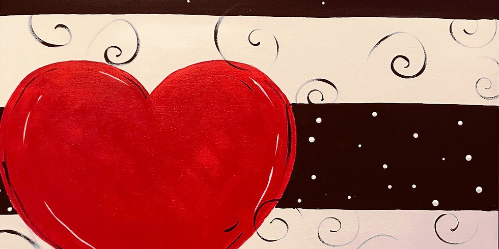 """""""Whimsical Love"""" Canvas 2U Painting Party (16 yrs+)"""