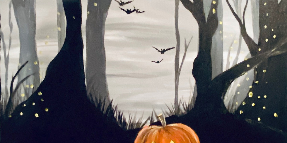 Virtual Painting Party! Spooky Jack!