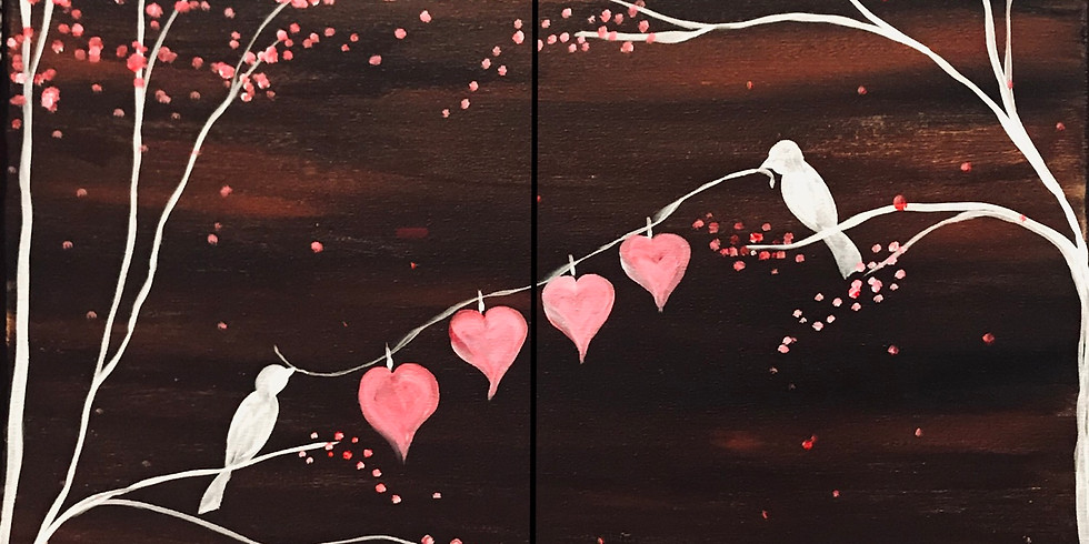Love Is In The Air Virtual Painting Event