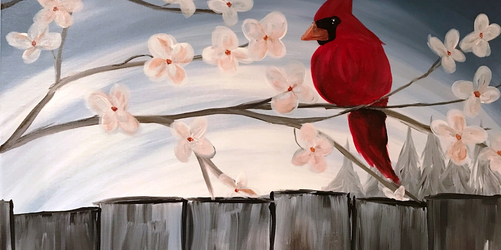 """""""Cardinal Visit"""" Painting Party with 2U (16yrs+)"""