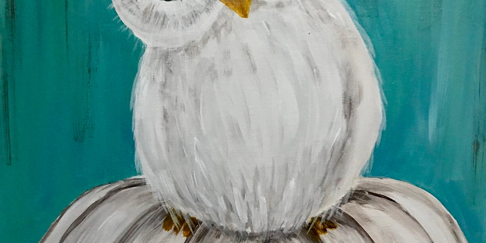 Owl Wanna Be A Pumpkin Too! Virtual Painting Party