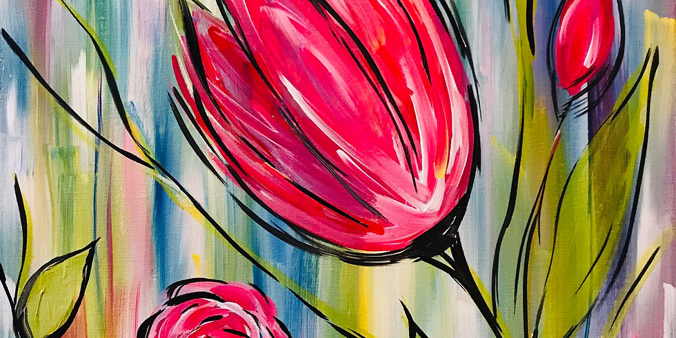 """""""Spring Blossoms"""" 2U Virtual Painting Party"""