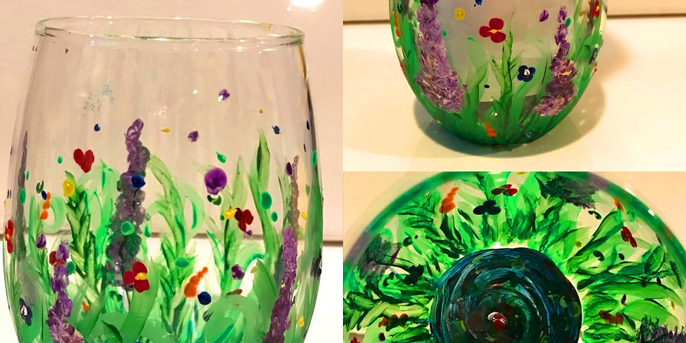 """""""Dots & Flowers"""" Glass Painting Party with 2U  (16 & up)"""
