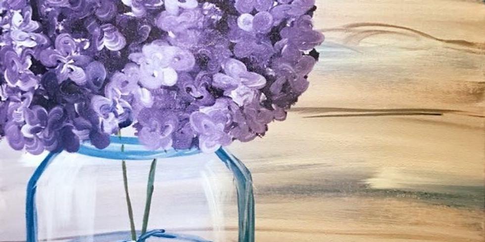 """Springtime Mason Jar"" Canvas Painting Party with 2U (16 & up)"