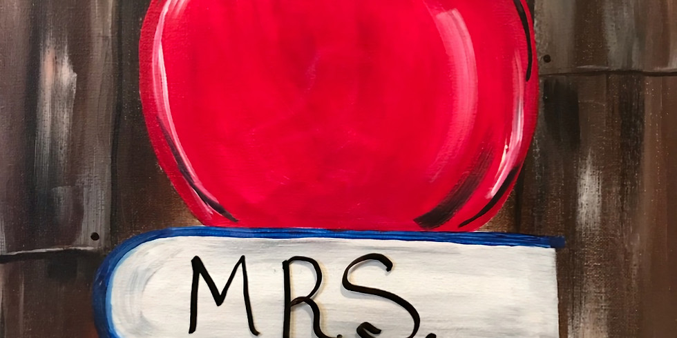 """""""Teacher's Apple"""" Painting Party with 2U (16 & up)"""