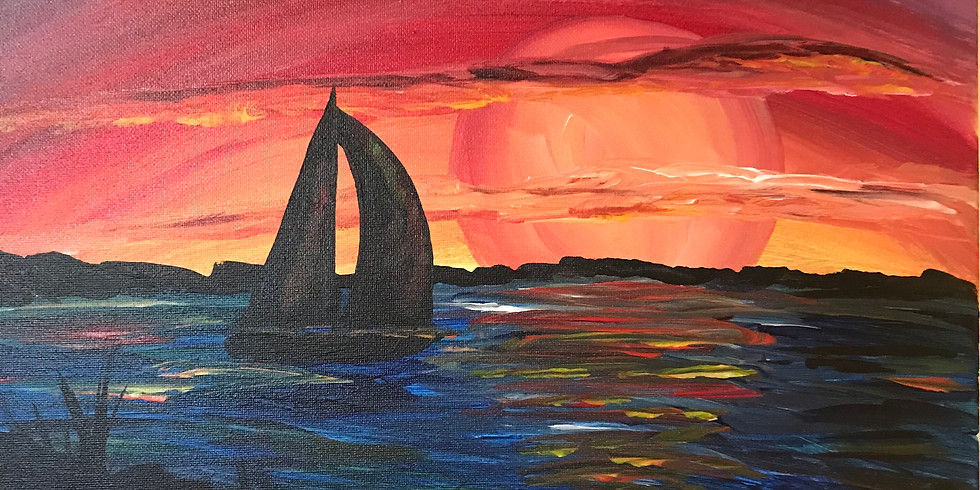 """""""Sunset Cruise"""" Guided Painting Event with 2U"""