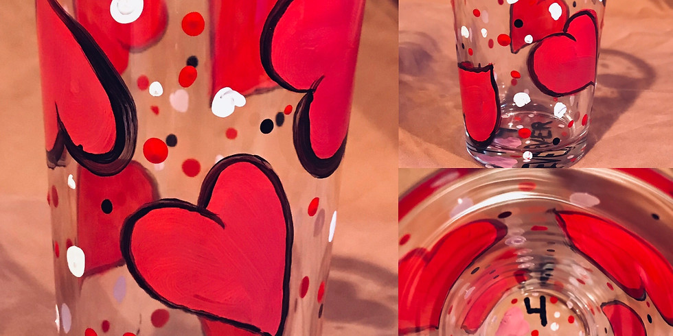 """""""Pint of Hearts"""" Glass Painting Party with 2U (16yrs+)"""