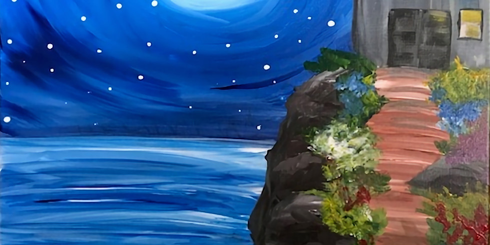 """""""Midnight Stroll"""" Painting Party with 2U (16 & up)"""