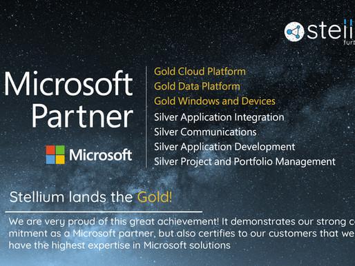 Stellium lands the Microsoft Gold Partnership