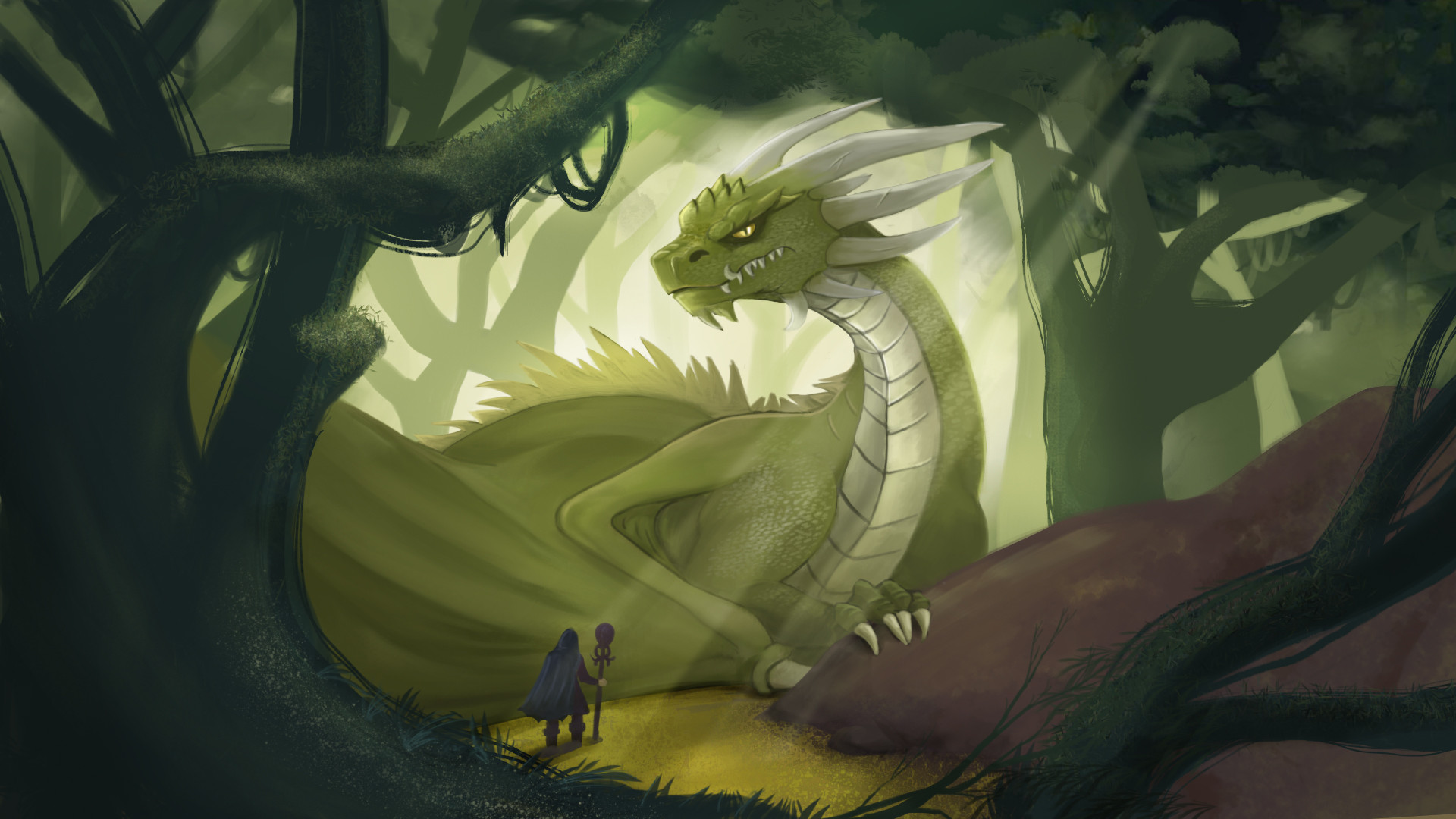Dragon in the wood