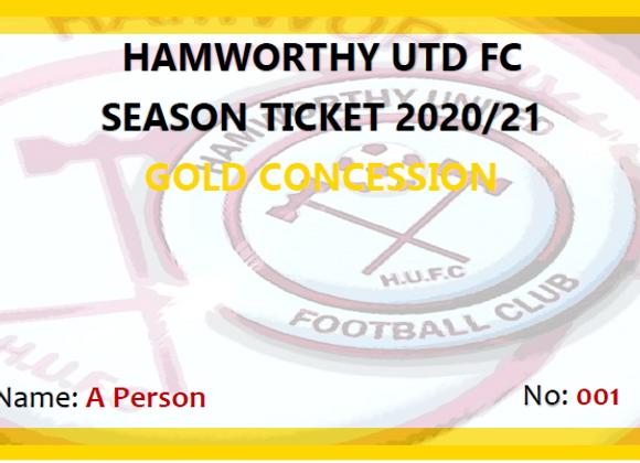 Gold Concession Season Ticket