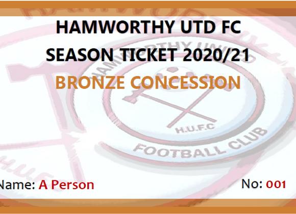 Bronze Concession Season Ticket