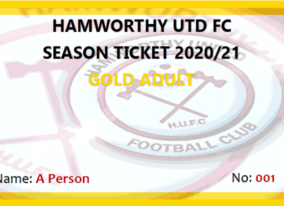 Gold Adult Season Ticket
