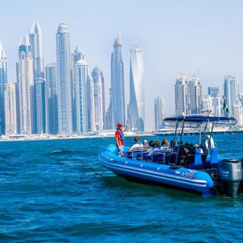 Visite en bateau de Dubai pendant 75min