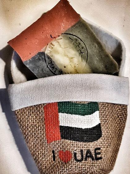UAE Soap 100 % Organic with gift bag