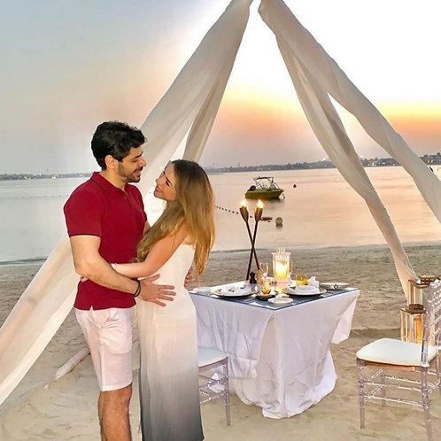Diner pour 2 en amoureux Sur La Palm à Dubai