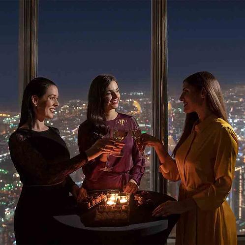 Visite du Burj Khalifa 152 153+ 154ème étage au coucher de soleil