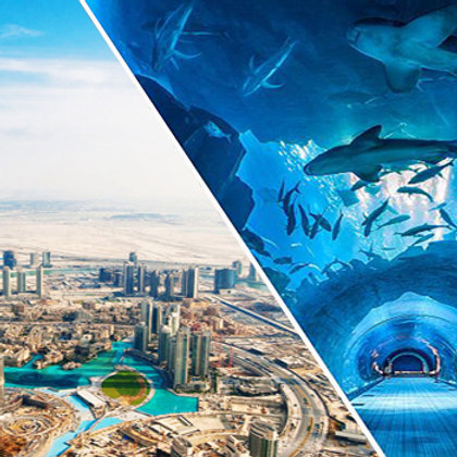 Visite du Burj Khalifa 124 et 125e etage + Aquarium