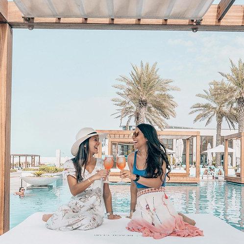 Journée sur une plage privée  à Abu Dhabi avec ou sans transport depuis Dubai