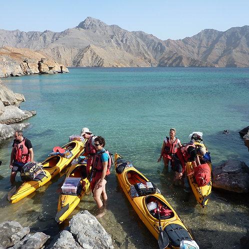 1 Journée Kayak à Oman avec Transport depuis Dubai